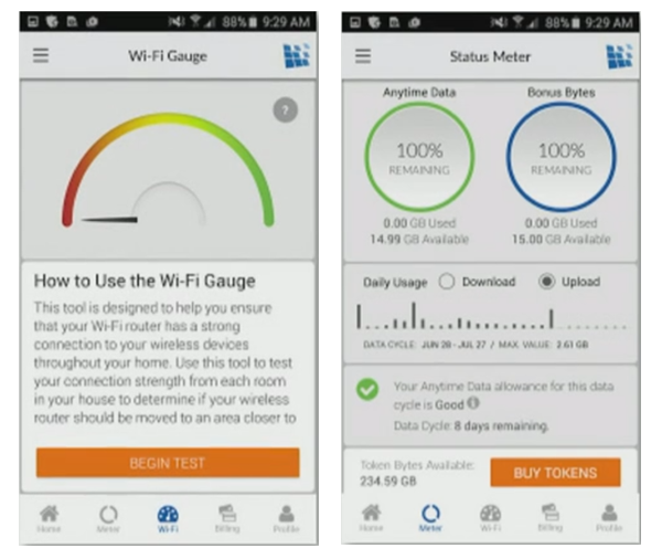 HughesNet Mobile App And Router